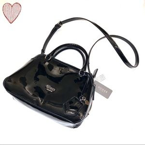 GUESS Patent Leather Dome Shaped Purse